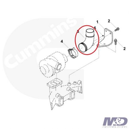Cummins Exhaust Outlet Pipe