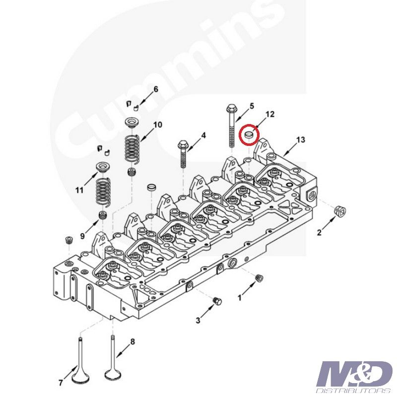Cummins EXPANSION PLUG CYLINDER HEAD CUMMINS 1995 - 1997 5.9L