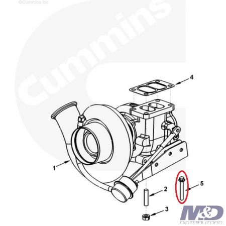 Cummins BOLT TURBO MOUNTING ISB M10 x 1.50 x 30mm LONG