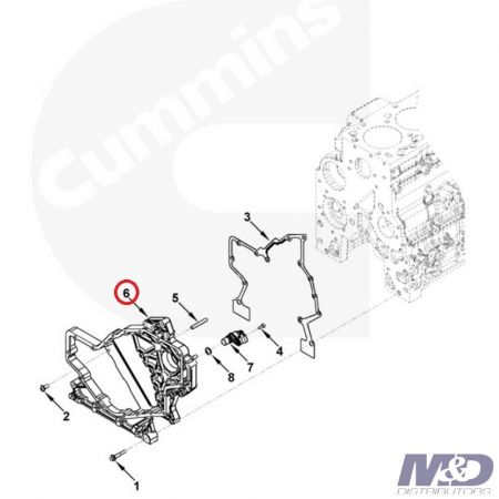 Cummins FRONT GEAR HOUSING ISB CUMMINS 5.9L 2003 - 2007