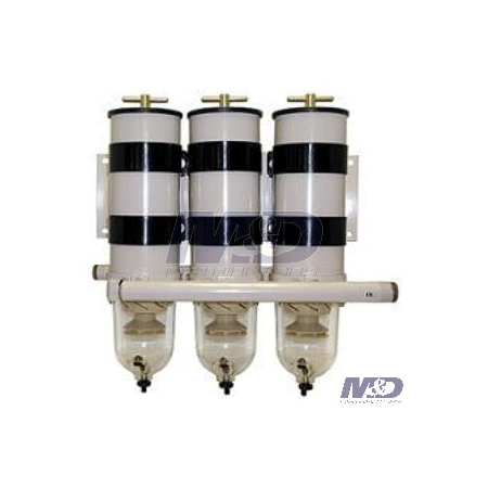 Parker Racor 30 Micron, 1000 Turbine Series, Triple Manifold Fuel Filter Assembly