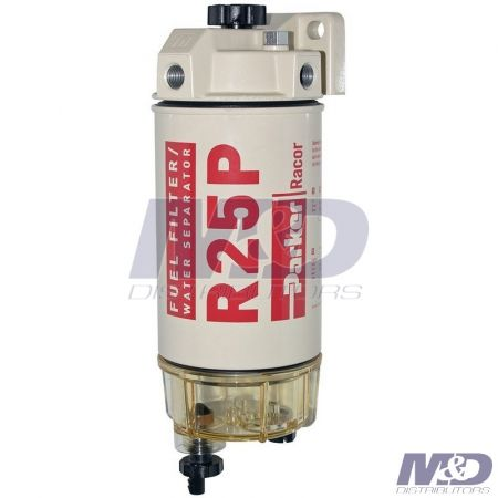 Parker Racor 30 Micron Spin-On Fuel Filter / Water Separator Assembly