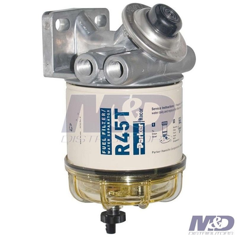 10 Micron 445 Series Fuel Filter Assembly 445R10   M&D   Spin On Fuel Filter Assembly      M&D Distributors