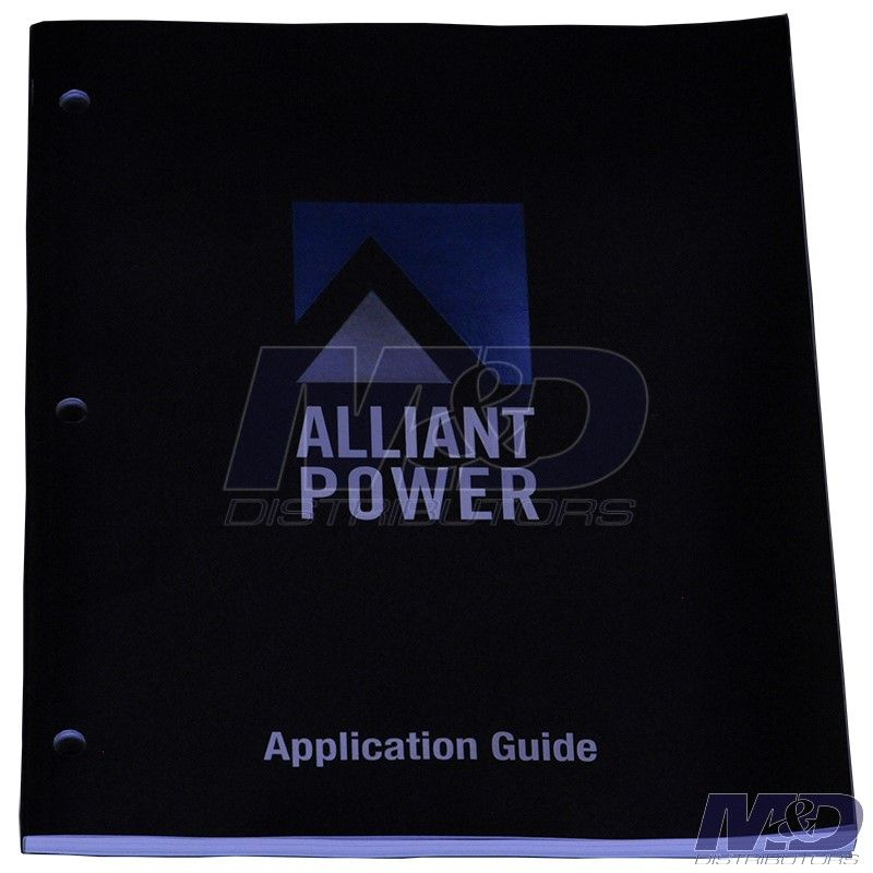 Alliant Power Application Guide (October 31, 2017)