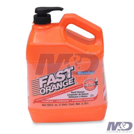 Permatex HAND CLEANER FAST ORANGE WITH PUMICE 1 GAL BOTTLE