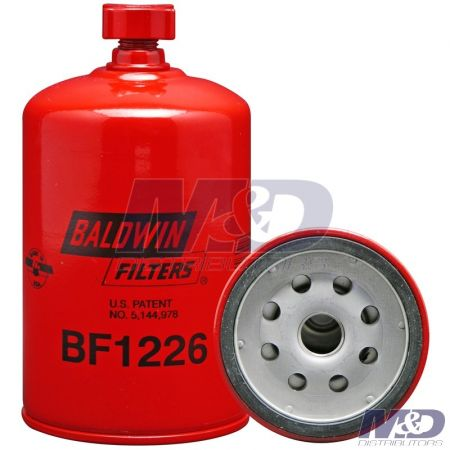 Baldwin Spin-On Fuel Filter / Water Separator with Drain