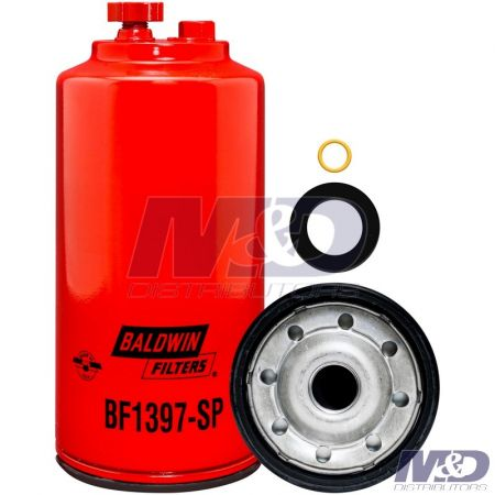 Baldwin Spin-On Fuel Filter / Water Separator with Drain & Sensor Port