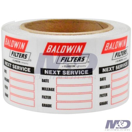Baldwin SERVICE STICKER PKG