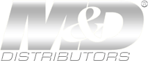 M&D Distributors' Faded Chrome Logo